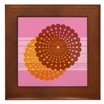Spirolap Pink Framed Tile