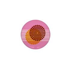 Spirolap Pink Mini Button