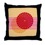 Spirolap Pink & Peach Throw Pillow