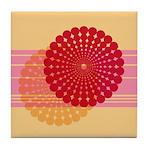 Spirolap Pink & Peach Tile Coaster