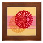 Spirolap Pink & Peach Framed Tile