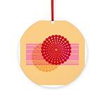 Spirolap Pink & Peach Ornament (Round)
