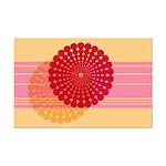 Spirolap Pink & Peach Mini Poster Print