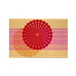 Spirolap Pink & Peach Rectangle Magnet (100 pa