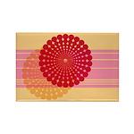 Spirolap Pink & Peach Rectangle Magnet (10 pac
