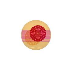 Spirolap Pink & Peach Mini Button