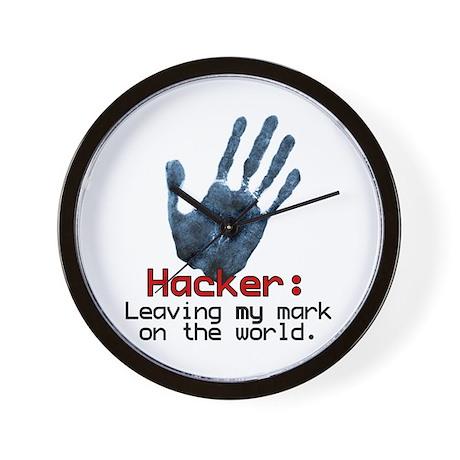 Hacker Wall Clock