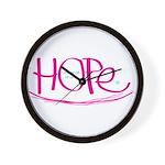 Hope - Pink Wall Clock