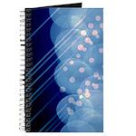 Blue Bokeh Stripes Journal