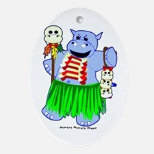 Cannibal Hippo Oval Ornament