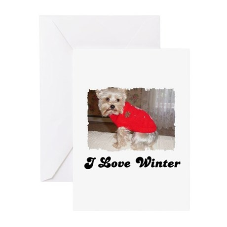 I LOVE WINTER Greeting Cards (Pk of 10)