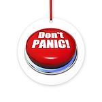 Don't Panic Ornament (Round)