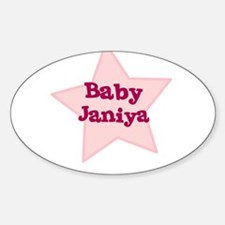 Baby Janiya Oval Decal