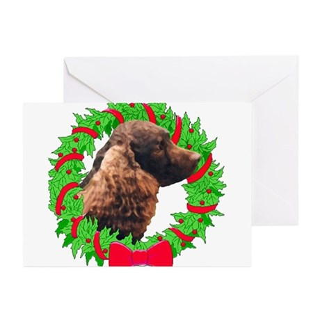 Xmas Amer Water Spaniel Greeting Cards (Package of