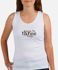 Mom to Three Boys Tshirt Women's Tank Top