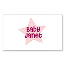 Baby Janet Rectangle Decal