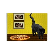 Pizza Cat Rectangle Magnet