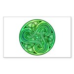 Celtic Triskele Rectangle Sticker 10 pk)