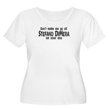 Stefano DiMera Women's Plus Size Scoop Neck T-Shir