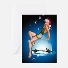 Christmas Pin-Up Girl Greeting Cards (Pk of 10)