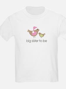 birdie big sister to be christmas shirt T-Shirt