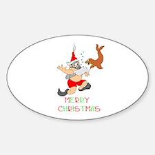 Santa Sticker (Oval)