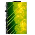 Green Bokeh Stripes Journal