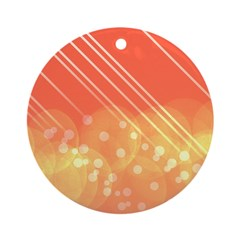 Peach Bokeh Stripes Ornament (Round)