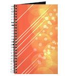 Peach Bokeh Stripes Journal