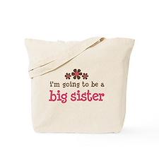 big sister pink brown flower Tote Bag