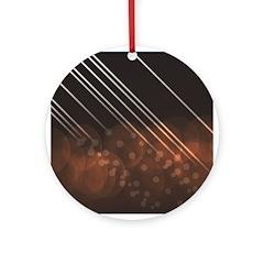 Brown Bokeh Stripes Ornament (Round)