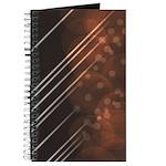 Brown Bokeh Stripes Journal
