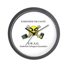 SURRENDER THE CACHE Wall Clock