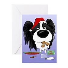 Papillon Santa's Cookies Greeting Cards (Pk of 20)