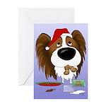 Papillon Santa's Cookies Greeting Card