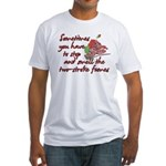 Two-Stroke Roses Fitted T-Shirt