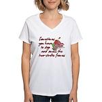 Two-Stroke Roses Women's V-Neck T-Shirt