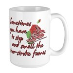 Two-Stroke Roses Large Mug