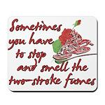 Two-Stroke Roses Mousepad