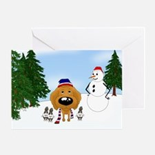 Apricot Poodle Holiday Greeting Card
