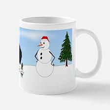 Black Poodle Holiday Mug