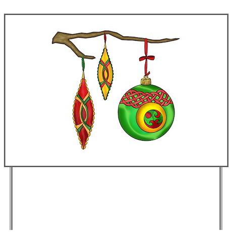 Celtic Ornaments Yard Sign