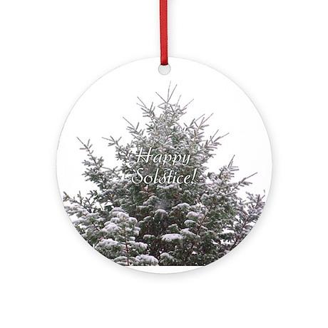 Solstice Evergreen Ornament (Round)