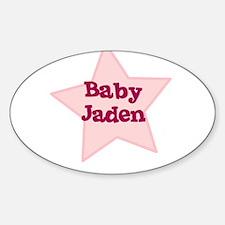 Baby Jaden Oval Decal