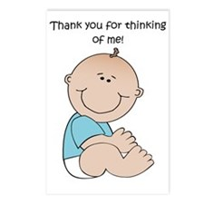 Thank You Boy Postcards (Package of 8)