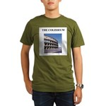 the colisseum rome italy gift Organic Men's T-Shir