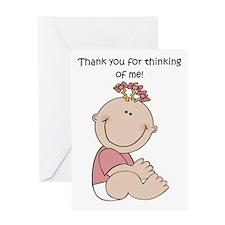 Thank You Girl Greeting Card