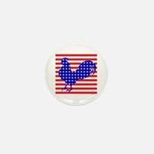 Stars And Stripes Rooster Mini Button (10 pack)