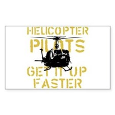 Helicopter Pilots Get It Up F Rectangle Decal