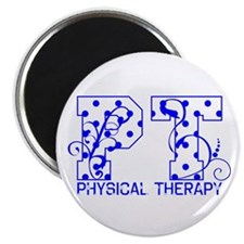 "Blue and White Dots 2.25"" Magnet (10 pack)"